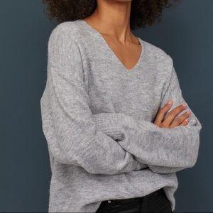Fine-Knit Grey Sweater